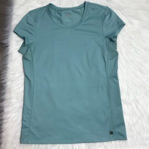 Alo Yoga Coolfit Fitted Workout Top Blue sz Large